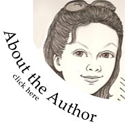Author photo. I really hate having my picture taken, this is sort of a cute little likeness of me. :)