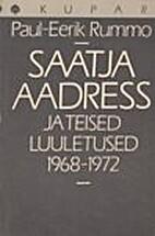 Saatja aadress ja teised luuletused…