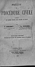 Précis de procédure civile: contenant les…