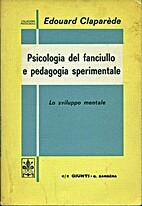 Psychologie de l'enfant et pédagogie…