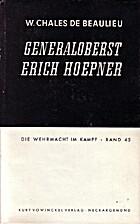 Generaloberst Erich Hoepner (Militärisches…