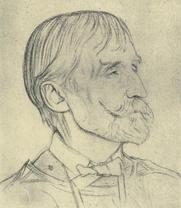 Author photo. Image from <b><i>Twenty-four Portraits</i></b> (1920) by William Rothenstein