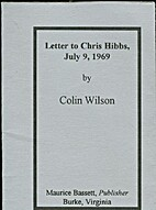Letter to Chris Hibbs July 9, 1969 by Colin…
