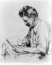 Author photo. Albert Schweitzer (1875-1965) Etching by Arthur William Heintzelman (Library of Congress Prints and Photographs Division)