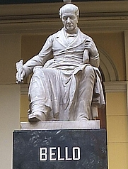 Author photo. Statue of Andres Bello, Santiago, Chile. Photo by Patricio Mecklenburg / Wikimedia Commons.