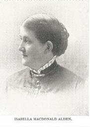 Author photo. Isabella Macdonald Alden [aka Pansy] (1841-1930) Buffalo Electrotype and Engraving Co., Buffalo, N.Y.