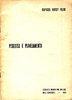 Pesquisa e planejamento by Raphael Hardy…