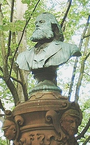Author photo. Bust of Friedrich Stoltze, Frankfurt am Main, Germany. Photo by user Peng / Wikimedia Commons.