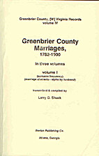 Greenbrier County, [W] Virginia Records…