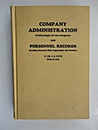 Company administration, including supply and…
