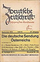 Deutsche Zeitschrift 47. Jahrgang Heft 12…
