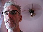 """Author photo. """"Self Portrait with Fan"""" by Don Cheney"""