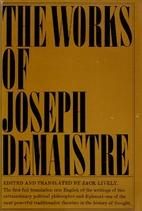 The works of Joseph de Maistre by Joseph de…