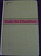 Code for classifiers; principles governing…
