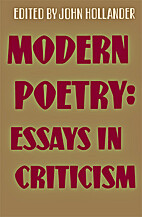 Modern poetry: essays in criticism by John…