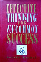 Effective Thinking for Uncommon Success by…