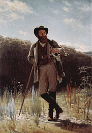 Author photo. Portrait of Ivan Shishkin by Ivan Kramskoj, 1873.