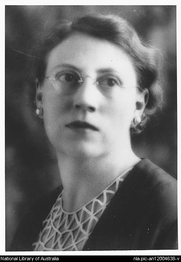 Author photo. Portrait of author Marjorie Barnard (1897-1987) [picture] [ca. 1935]<br><a href=&quot;http://www.nla.gov.au&quot;>National Library of Australia</a>, nla.pic-an12004638