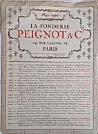 La Fonderie Peignot et Cie.