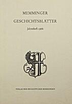Memminger Geschichtsblätter Jahresheft 1966