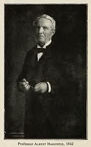 Author photo. Albert Harkness. From page 412 of Memories of Brown; traditions and recollections gathered from many sources (1909)