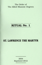 Ritual No 1 - St Lawrence the Martyr by…