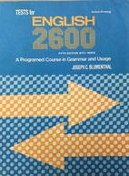 Tests for English 2600: A Programed Course…