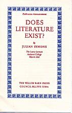 Publication Announcement: Does Literature…