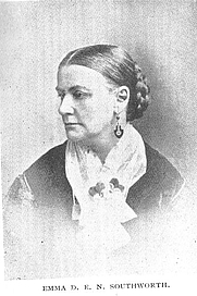 Author photo. Mrs. Emma Dorothy Eliza Nevitte Southworth (1819-1899), Buffalo Electrotype and Engraving Co., Buffalo, N.Y.