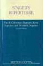 Singer's repertoire by Berton Coffin