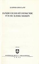 Handbuch der Bucherkunde fur die Altere…