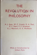 The Revolution in Philosophy by A. J. Ayer