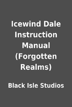 Icewind Dale Instruction Manual (Forgotten…