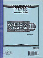 Writing And Grammar 11 for Christian Schools…