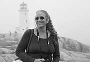 Author photo. Me at Peggy's Cove 2011