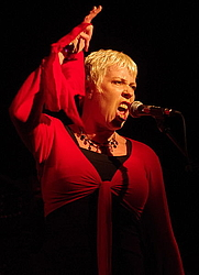 Author photo. Hazel O'Connor 2010 at the Ropetackle Centre, Shoreham Image by Danny Simpson