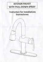 Kitchen faucet with pull-down spray :…