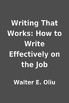 Writing That Works: How to Write Effectively…