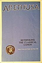 Arethusa (vol 27 no 1): Rethinking the…