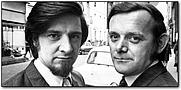Author photo. John Esmonde (left) with writing partner Bob Larbey