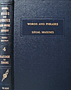 The Encyclopedia of Words and Phrases, Legal…