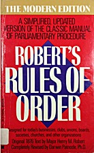 Robert's Rules of Order: A Simplified,…