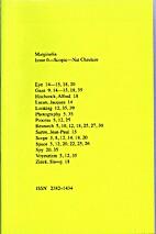 Marginalia: Issue 0-Scopic by Ashley Keen &…