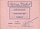 Palmer Method Advanced Manuscript Tablet