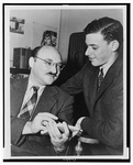Author photo. James Yaffe (right)