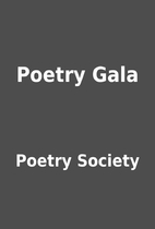 Poetry Gala by Poetry Society