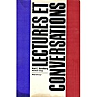 Lectures Et Conversations by Karl C.…