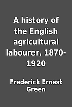 A history of the English agricultural…