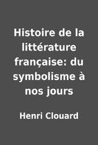 Histoire de la littérature…