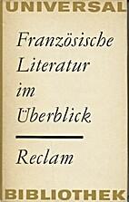 Französische Literatur im Überblick by Han…